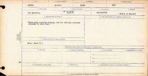 Canadian Casualty Form for Hugh Baird