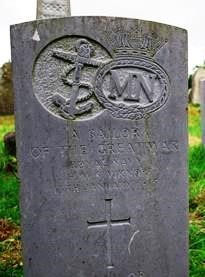 Grave of an unknown sailor who died when HMS Viknor sank (Rathlin Island)